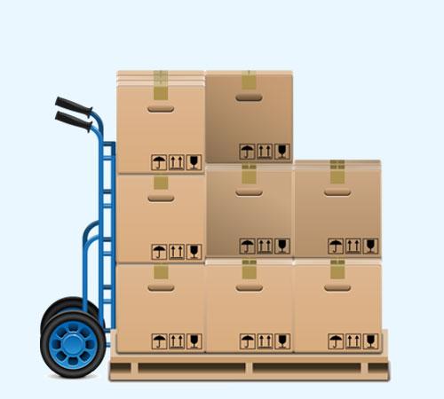 Transporte de carga, móveis e objetos